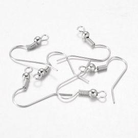Metaliniai auskarų kabliukai 18x18 mm., 5 poros.