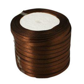 Satino juostelė skirta papuošalų, rankdarbių gamyboje. Tamsiai rudos spalvos, plotis apie 20 mm., kaina - 1,69 Eur už 1 ritė.