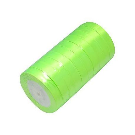 Satino juostelė, salotinės spalvos, 20 mm., ritėje ~22 m.