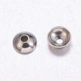 Nerūdijančio plieno 304 Bead cap 6 mm., 10 pc.