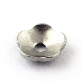 Nerūdijančio plieno 304 Bead cap 4x1.5 mm., 10 pc.