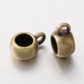 Laikikliai naudojami papuošalų, rankdarbių, suvenyrų gamyboje. Sendintos bronzinės spalvos, kaina - 0,12 Eur už 1 vnt.