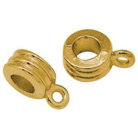 Laikikliai naudojami papuošalų, rankdarbių, suvenyrų gamyboje. Sendintos aukso spalvos, kaina - 0,18 Eur už 1 vnt.