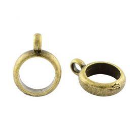 Laikikliai naudojami papuošalų, rankdarbių, suvenyrų gamyboje. Sendintos bronzinės spalvos, kaina - 0,22 Eur už 1 vnt.