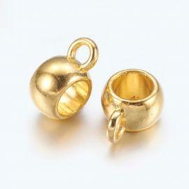 Laikikliai naudojami papuošalų, rankdarbių, suvenyrų gamyboje. Aukso spalvos, kaina - 0,12 Eur už 1 vnt.