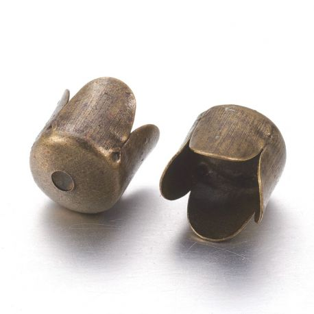 Kepurėlė, bronzinės spalvos spalvos, 7x6.5 mm. 10 vnt.