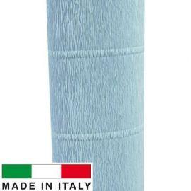 559 Cartotecnica Rossi gofruotas floristinis krepinis popierius, skirtas rankdarbiams, įpakavimams. Žydros spalvos, kaina - 1,5
