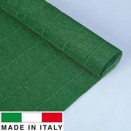 561 Cartotecnica Rossi gofruotas floristinis krepinis popierius, skirtas rankdarbiams, įpakavimams. Tamsiai žalios spalvos, kai