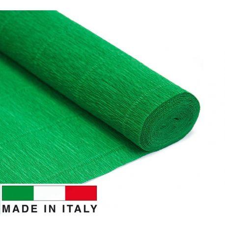 563 Cartotecnica Rossi gofruotas floristinis krepinis popierius, skirtas rankdarbiams, įpakavimams. Žalios spalvos, kaina - 1,5