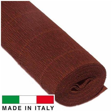 568 Cartotecnica Rossi gofruotas floristinis krepinis popierius, skirtas rankdarbiams, įpakavimams. Rudos spalvos, kaina - 1,5