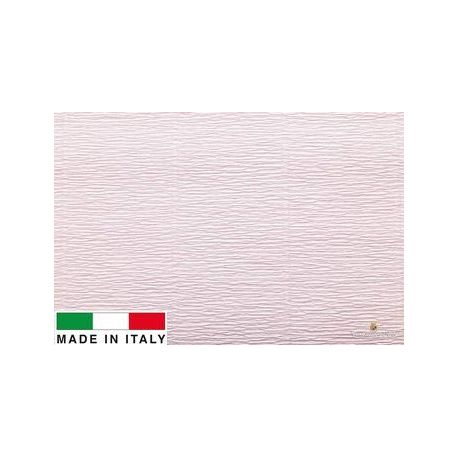 569 Cartotecnica Rossi gofruotas floristinis krepinis popierius, skirtas rankdarbiams, įpakavimams. Šviesiai rožinės spalvos, k
