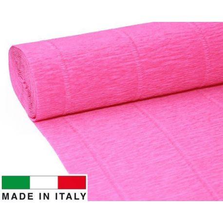 570 Cartotecnica Rossi gofruotas floristinis krepinis popierius, skirtas rankdarbiams, įpakavimams. Rožinės spalvos, kaina - 1,