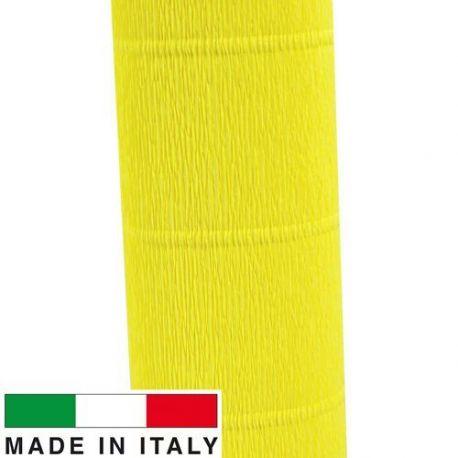 575 Cartotecnica Rossi gofruotas floristinis krepinis popierius, skirtas rankdarbiams, įpakavimams. Geltonos spalvos, kaina - 1