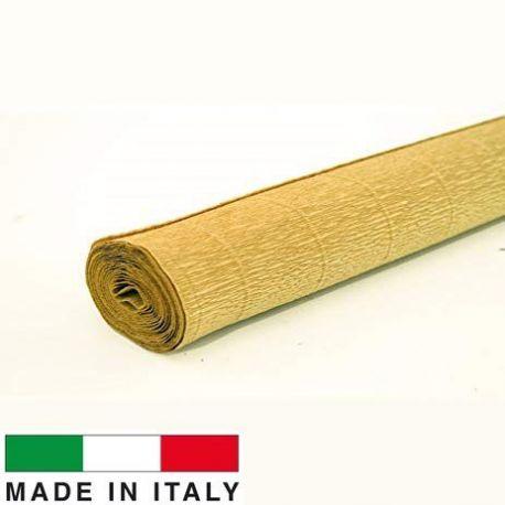 579 Cartotecnica Rossi gofruotas floristinis krepinis popierius, skirtas rankdarbiams, įpakavimams. Gelsvos spalvos, kaina - 1,