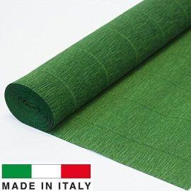 591 Cartotecnica Rossi gofruotas floristinis krepinis popierius, skirtas rankdarbiams, įpakavimams. Tamsiai žalios spalvos, kai