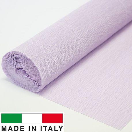 Itališkas krepinis popierius, alyvinės spalvos, 2.50 x 0.50 m.