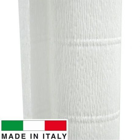 600 Cartotecnica Rossi gofruotas floristinis krepinis popierius, skirtas rankdarbiams, įpakavimams. Baltos spalvos, kaina - 1,5