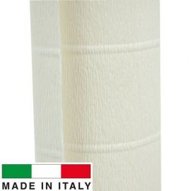 603 Cartotecnica Rossi gofruotas floristinis krepinis popierius, skirtas rankdarbiams, įpakavimams. Gelsvos spalvos, kaina - 1,