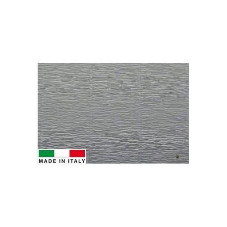 605 Cartotecnica Rossi gofruotas floristinis krepinis popierius, skirtas rankdarbiams, įpakavimams. Pilkos spalvos, kaina - 1,5