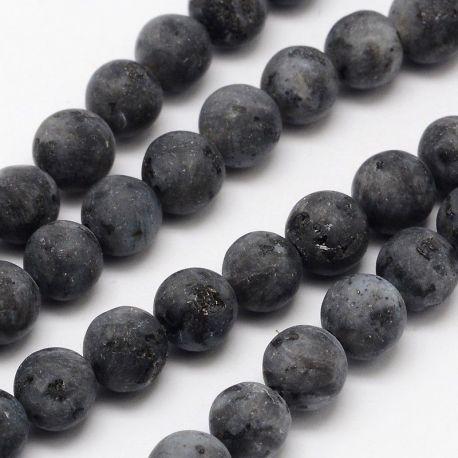 Norvegiško Labradorito karoliukai akmenėliai apyrankėms, vėriniams, papuošalams verti ir gaminti. Tamsiai pilkos spalvos, apvali