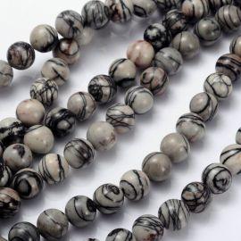 Natural Jaspio beads 10 mm., 1 thread