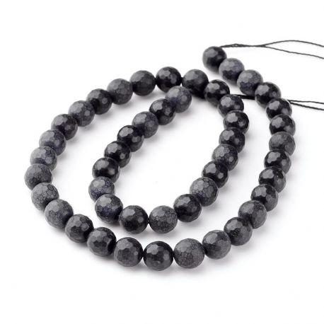 Juodojo akmens karoliukai akmenėliai apyrankėms, vėriniams, papuošalams verti ir gaminti. Juodos spalvos, apvalios formos, kain