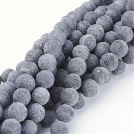 Agato karoliukai akmenėliai apyrankėms, vėriniams, papuošalams verti ir gaminti. Juodos spalvos, apvalios formos, kaina - 7,01