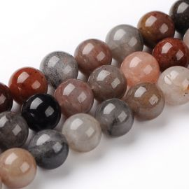 Natural quartz beads 10 mm., 1 strand