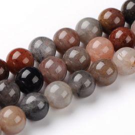 Natūralūs kvarco karoliukai akmenėliai apyrankėms, vėriniams, papuošalams verti ir gaminti. Rudos-pilkos-gelsvos spalvos, apvali