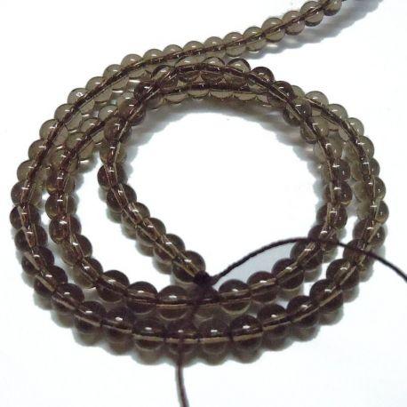 Dūminio kvarco imitacija akmenėliai apyrankėms, vėriniams, papuošalams verti ir gaminti. Rudos spalvos, apvalios formos, kaina