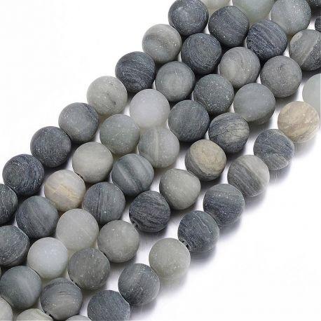Natūralūs žaliojo rutilo kvarco karoliukai akmenėliai apyrankėms, vėriniams, papuošalams verti ir gaminti. Žalios spalvos, apval