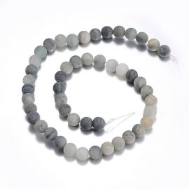 Natural green rutilo quartz beads 10 mm., 1 strand