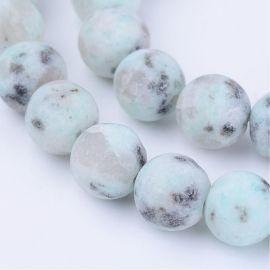 Natūralūs Sezaminio jaspio karoliukai 8 mm., 1 gija