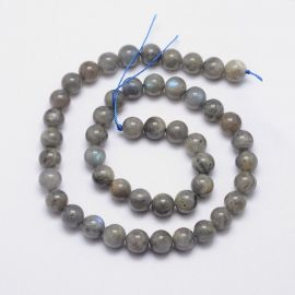 Natural Labradorite beads 8 mm., 1 strand