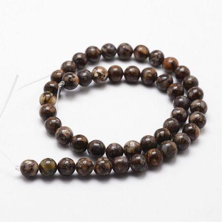 Natūralūs opalo karoliukai akmenėliai apyrankėms, vėriniams, papuošalams verti ir gaminti. Rudos-melsvos-baltos spalvos, apvalio