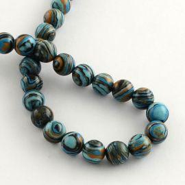 Imitation of stone beads 8 mm., 1 thread
