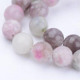 Natūralūs akmeniniai karoliukai 10,5 mm., 1 gija