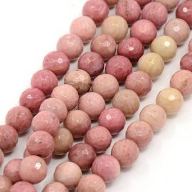 Natural Rhodochrosite beads 8 mm., 1 strand