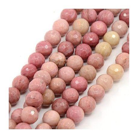 Natūralūs rodochrozito karoliukai akmenėliai apyrankėms, vėriniams, papuošalams verti ir gaminti. Rausvos spalvos, apvalios form