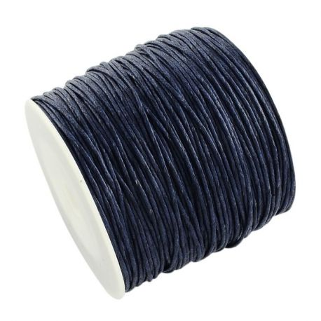 Vaškuota medvilninė virvelė, mėlynos spalvos 1.00 mm
