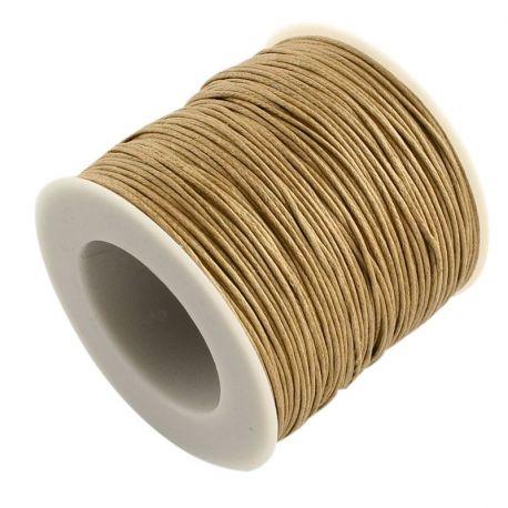 Vaškuota medvilninė virvelė, smėlio spalvos 1.00 mm