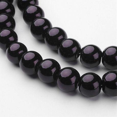 Stikliniai karoliukai perliukai akmenėliai apyrankėms, vėriniams, papuošalams verti ir gaminti. Juodos spalvos, netaisyklingos a