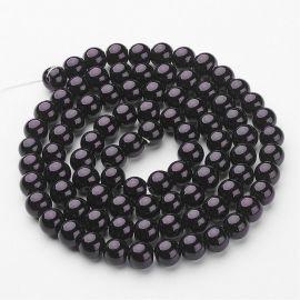 Stikliniai karoliukai perliukai 10 mm, 1 gija
