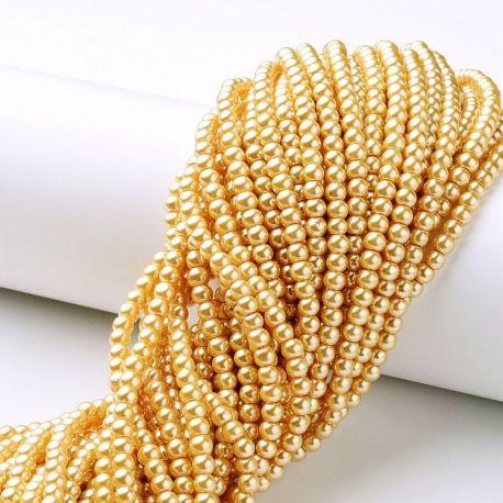 Stikliniai karoliukai perliukai akmenėliai apyrankėms, vėriniams, papuošalams verti ir gaminti. Aukso spalvos, netaisyklingos ap
