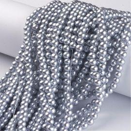 Stikliniai karoliukai perliukai akmenėliai apyrankėms, vėriniams, papuošalams verti ir gaminti. Sidabro (šviesiai pilkos) spalvo