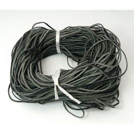 Natūralios leather cord 2x1 mm, 1 meter