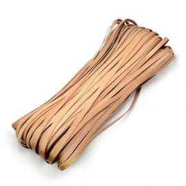 Natūralios odos virvutė, smėlio spalvos 10x2 mm, 1 metras