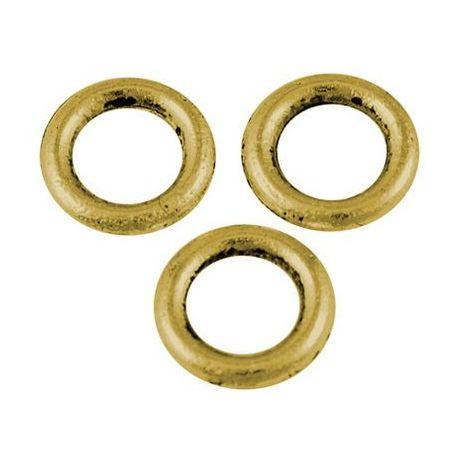 Dekoratyvinis uždaras žiedelis, aukso spalvos spalvos 8 mm., 4 vnt.