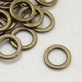 Dekoratyvinis uždaras žiedelis apyrankėms, vėriniams, papuošalams verti ir gaminti. Sendintos bronzinės spalvos, kaina - 0,15 E