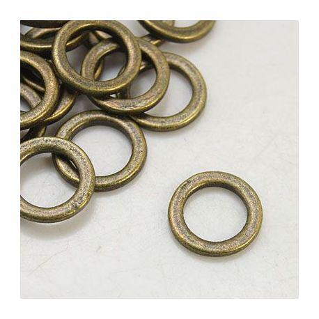 Dekoratyvinis uždaras žiedelis, bronzinės spalvos spalvos 12x12 mm., 1 vnt.